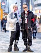 Michiko London Inflatable Cat Jacket & Yohji Yamamoto Boots in Harajuku