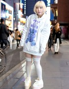 "Milkboy ""Never Say Never"" Parka & Swankiss Shoes in Harajuku"