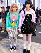 Harajuku High School Girls in Milklim, Spinns, Daisy Duck & WEGO