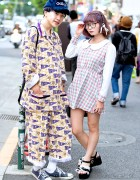 Harajuku Girl in Glasses w/ Minplume vs. Harajuku Guy w/ Pin Nap & Sackpack