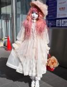 Shironuri Minori w/ Handmade & Vintage Fashion in Harajuku