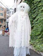 Shironuri Minori in Harajuku w/ White Lace & Tiny Bunny