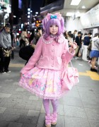 Moco's Kawaii Pink Angelic Pretty Style at Harajuku Station