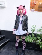 Moco's Cute Cat Ears, 6%DOKIDOKI & Strawberry Planet in Harajuku