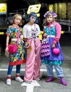 Colorful Vintage Japanese Street Styles w/ PowerPuff Girls, Kinji Harajuku & Little Sunny Bite