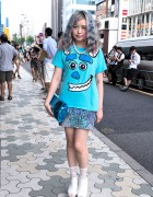 Silver Pastel Hair, Sulley, Jouetie Necklace & Jeffrey Campbell Platforms