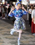 Cute Harajuku Galaxy Print Fashion w/ My Unicorn Poison, US☆KICKY & One Spo
