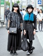 Harajuku Girls w/ Blue Hair, Kanji-print NIIMI, Never Mind the XU & DVMVGE