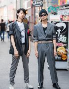 Harajuku Men's Suit Styles w/ Raf Simons, Balmain, Destroy, Hilton, Converse, HardCover & Loewe