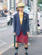 Harajuku Men's Skirt Fashion w/ Puma, Adidas & Crocodile