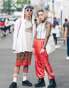 Harajuku Duo in Red & White Streetwear w/ Bubbles, UNIF, George Cox, Rebel 8, NLF & My Little Pony