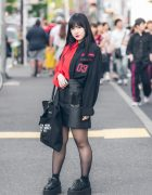 Harajuku Girl in Red & Black Street Fashion w/ Another Youth, Style Nanda, ESC Studio & Bubbles
