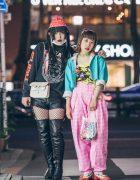 Shoushi & Hikari in Harajuku w/ Freak City, Dolls Kill, Orla Kiely, Angel Blue, Poco A Poco & Current Mood