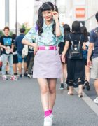 Harajuku Model/Actress in Pastel Popsicle Street Style w/ Peco Club, WEGO, Daiso & Forever 21
