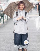 Oversized Harajuku Street Style w/ Amatunal Fried Egg Pants, Checkered Shirt & Dr. Martens
