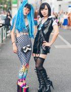 Harajuku Duo in Hair Falls & Platform Boots w/ YRU, Dolls Kill, Gucci & Pleaser