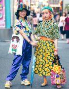 Harajuku Girls in Colorful Street Styles w/ San-Biki No Koneko, Grapefruit Moon, Flying Tiger, Kinji Harajuku