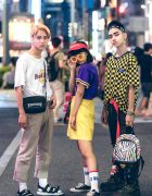 Colorful Fun Harajuku Street Styles w/ The Smurfs, Starlights, Thrasher & Minnie Mouse
