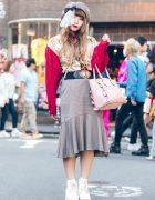 Japanese Reader Model in Chic Plaid Fashion w/ Nadia Harajuku, Me & Samantha Thavasa