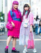 Harajuku Girls in Kawaii Pink & Pastel Fashion w/ RRR By Sugar Spot Factory, 6%DOKIDOKI, Kilo Shop, Disney, Dr. Martens, Question Mark & Coco Deal