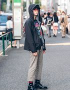 Japanese Model in Designer Street Fashion w/ Balenciaga, Raf Simons, Vivienne Westwood & YSL