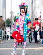 Kawaii Mixed Prints Harajuku Fashion in Tokyo w/ Galaxxxy, 6%DOKIDOKI, Merry Jenny, Yosuke & Handmade Headpiece