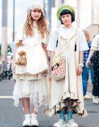 Harajuku Girls in Vintage & Antique Street Styles w/ Tokyo Bopper, Favorite Bear, A Land, Hey Q & Handmade Fashion