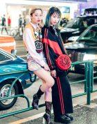 Harajuku Girls in Colorful Fun Streetwear by Jeremy Scott, Moschino, Nieuw Jurk, Candy Stripper, UNIF, Lazy Oaf & LSB