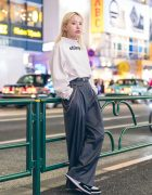 Lee Hyo Jin of Korean Streetwear Brand Open The Door on The Street in Harajuku