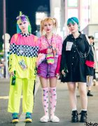 Fashion Designers w/ Colorful Hairstyles in Handmade & Vintage Harajuku Street Styles