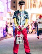 Japanese Streetwear in Harajuku w/ Avalone See Through Jacket, Metallica Tee & LAD Musician Boots