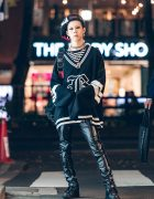 Qlozet Staffer in Dark Harajuku Street Fashion w/ Qlozet, Growing Pains & GlamHate