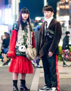 Harajuku Duo in Color-Coordinated Fashion w/ Kinji, Faith Tokyo, Vivienne Westwood & Thank You Mart