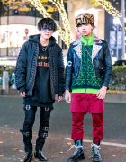 Harajuku Guys' All Black & Remake Streetwear Fashion w/ Never Mind the XU, Dododo, Another Youth, Zara, Monomania, Nyulycadelic & Dr. Martens