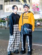 Harajuku Female Duo in Edgy Street Fashion w/ VEI-8, Never Mind the XU, Faith Tokyo & Demonia