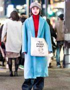 Japanese Singer-Songwriter in Harajuku Winter Street Style w/ X-girl, Nadia, Ozoc & Aymmy in the Batty Girls