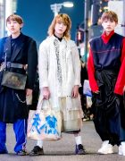 Harajuku Trio in Japanese Streetwear Looks w/ Comme des Garcons, Adidas, Gosha Rubchinskiy, Tommy Hilfiger, Dog Harajuku, Raf Simons & Zara