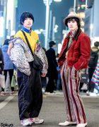 Tora Yamazaki & Tubasa in Vintage Eclectic Street Styles w/ Ellesse, JC Penny, Hermes, Coach, Reebok, Principe di Firenze & Rebertas