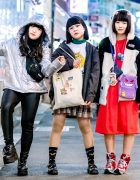Harajuku Girls in Japanese Eclectic Street Styles