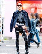 Harajuku Edgy Street Fashion w/ Dressedundressed, Costume National, Z. Vargas, Neil Barrett, Wild Party & Balenciaga