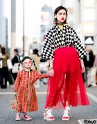 The Ivy Tokyo Designer Mother & Daughter Vintage Kimono Top Harajuku Street Styles