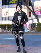 Goth Girl Harajuku Street Style w/ NOMA, Drug Honey & Romantic Standard