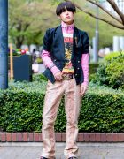 Japanese Male Model in Print Streetwear w/ The Four-Eyed, Gucci, Christopher Shannon, Kinji Harajuku & D&G