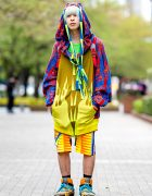 Colorful Tokyo Streetwear w/ Bernhard Willhelm Fashion & Bernhard Willhelm Sneakers