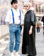 Harajuku Styles w/ Gosha Rubchinskiy & Suspenders vs Sheer Coat & Round Glasses