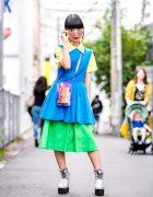 Harajuku Girl Street Style w/ Tricot Comme des Garcons, Lily Brown, GYDA, Vintage Fashion & Vannie Tokyo