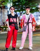 Vintage Kimono Top, Kenzo x H&M Bag, Sleeveless Tee, Dr. Martens & Converse in Harajuku