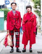 Red Comme des Garcons Streetwear Looks w/ Loewe, Otoe, Tokyo Bopper & Black Comme des Garcons x Nike Sneakers