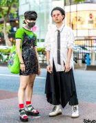 Japanese Street Styles w/ Face Mask, Sequin Dress, Issey Miyake, Betty Boop, Vivienne Westwood, Yosuke & Dr. Martens