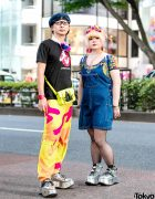 Japanese Couple Streetwear Style w/ ESQAPE Shoes, Jeremy Scott x Adidas, Ghost Busters x Soulsmania, Dr. Martens, Kangol & Pinnap Harajuku